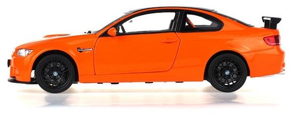 โมเดลรถ โมเดลรถยนต์ โมเดลรถเหล็ก BMW M3 GTS orange 3