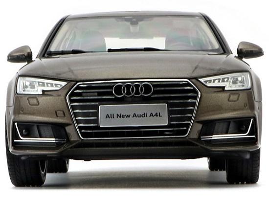 โมเดลรถ โมเดลรถเหล็ก โมเดลรถยนต์ Audi A4L brown 4