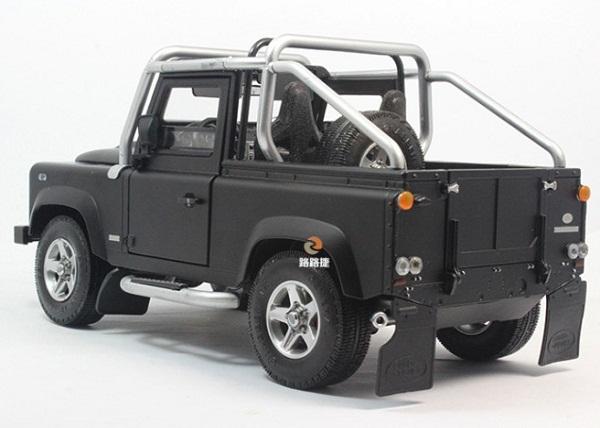 โมเดลรถ โมเดลรถเหล็ก โมเดลรถยนต์ Land Rover Defender SVX black 2