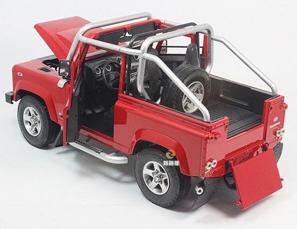 โมเดลรถ โมเดลรถเหล็ก โมเดลรถยนต์ Land Rover Defender SVX red 5