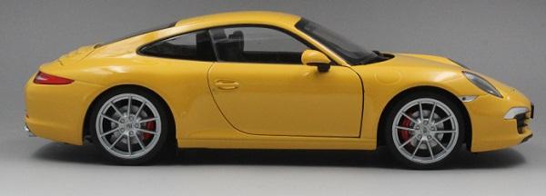 โมเดลรถ โมเดลรถเหล็ก โมเดลรถยนต์ Porsche 911 991 carrera S yellow 3
