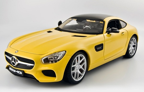 โมเดลรถ โมเดลรถเหล็ก โมเดลรถยนต์ Benz AMG GT yellow 1