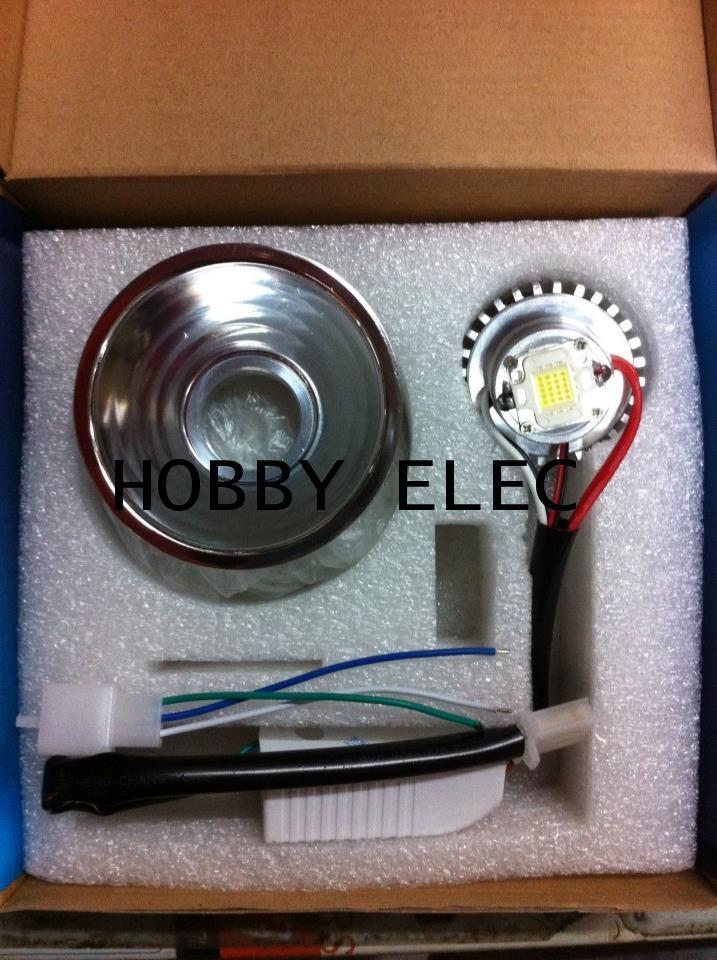 โคมไฟหน้า สปอตไลท์ LED 20/12 W แปลงใส่มอไซค์