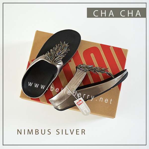 FitFlop Cha Cha : Nimbus Silver : Size US 8 / EU 39