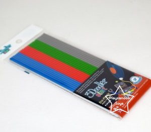 GX-2003 รีฟิลปากกา 3 มิติ Plastic Packs (Mixed color) - Grey, Blue,Green, Red