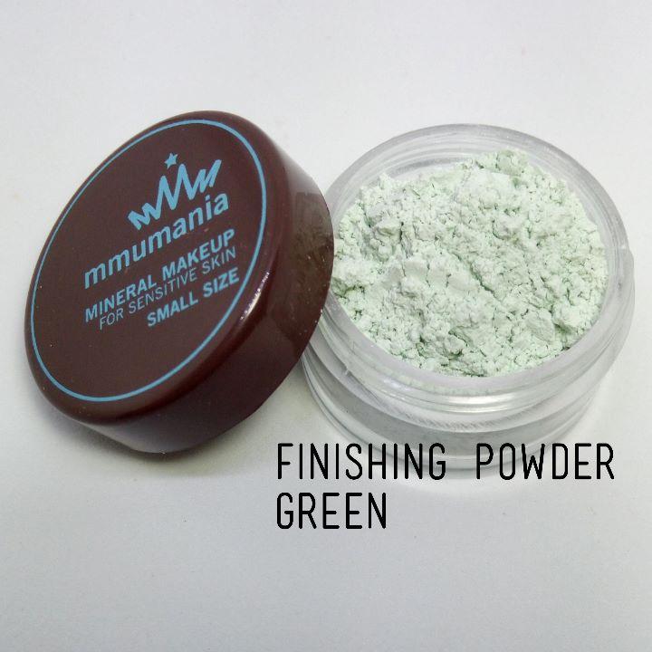 ขนาดกลาง MMUMANIA Mineral Makeup : FINISHING POWDER แป้งฝุ่นคุมมัน มิเนอรัล สีเขียว