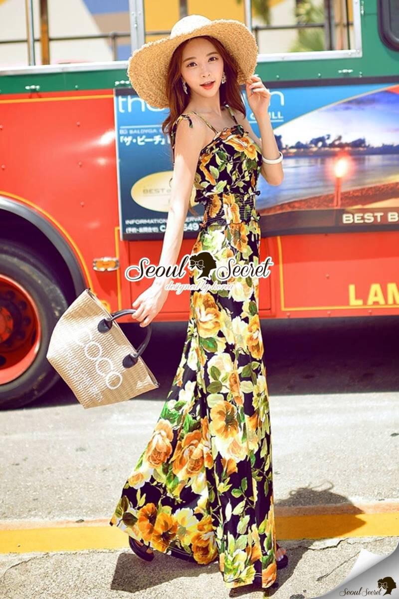 Seoul Secret Say's Tropical Blossom Playsuit