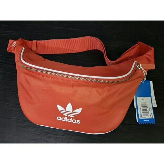 Adidas Originals Bum Bag Waist Bag Hip Sack Black Zipper 3 Stripes Golf 836f3cde26e0b