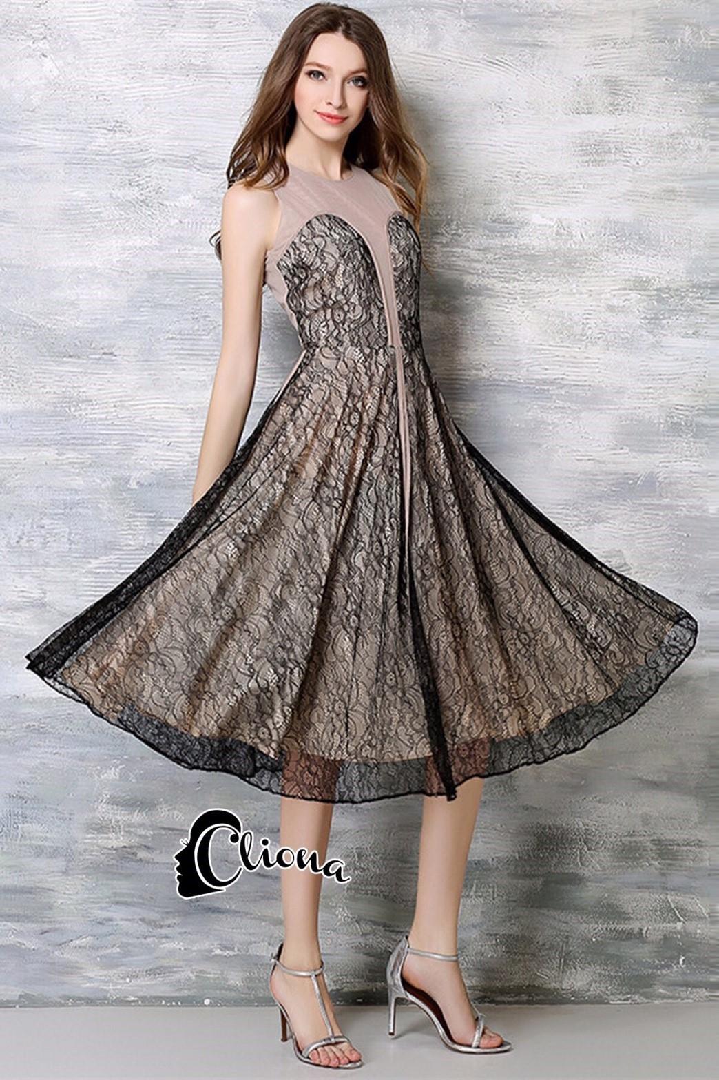 ชุดเดรสเกาหลี พร้อมส่งJohana Luxury Lace Dress