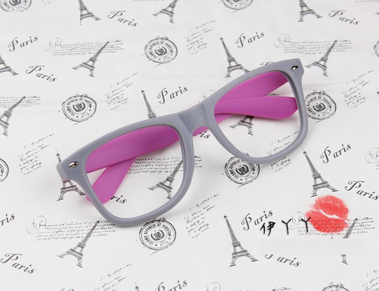 แว่นตาแฟชั่นเกาหลี เทาโรส (ไม่มีเลนส์)