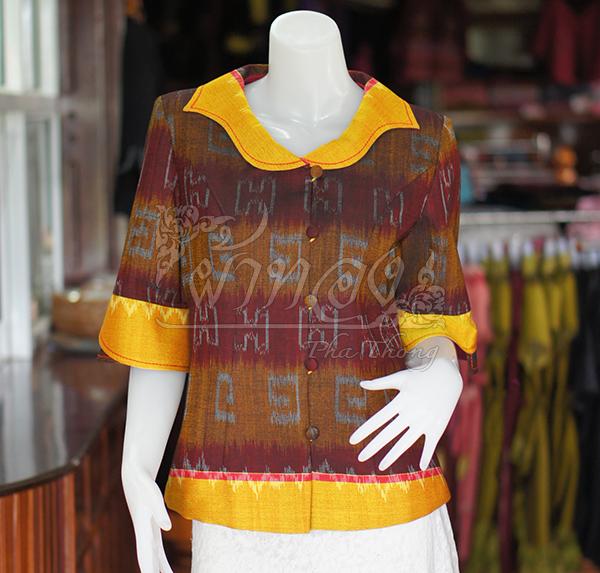 เสื้อผ้ามัดหมี่ทอมือ ไซส์ L