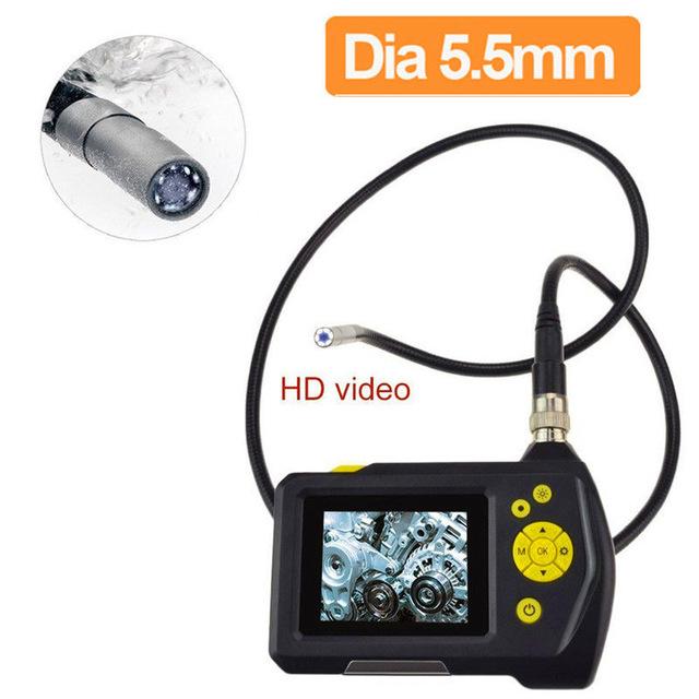 """Endoscope (กล้องตรวจสอบในท่อ หรือกล้องงู) ขนาดเส้นผ่านศูนย์กลางท่อ 8.2mm ยาว 1 เมตร 2.7"""" LCD รุ่น NTS100 ราคาถูก"""