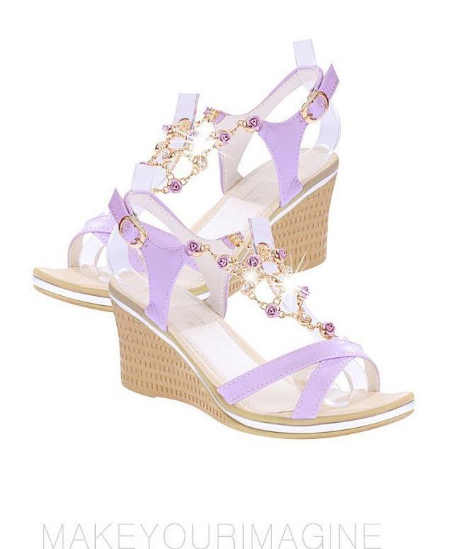Ladyshoes รองเท้าแฟชั่นผู้หญิง รุ่น LSW - 008 สีม่วง