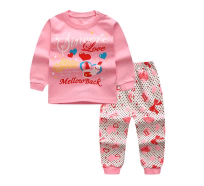ไซส์ 73 80 ชุดนอนเด็กผ้านิ่ม สีชมพู