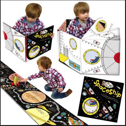 Convertible Book Spaceship