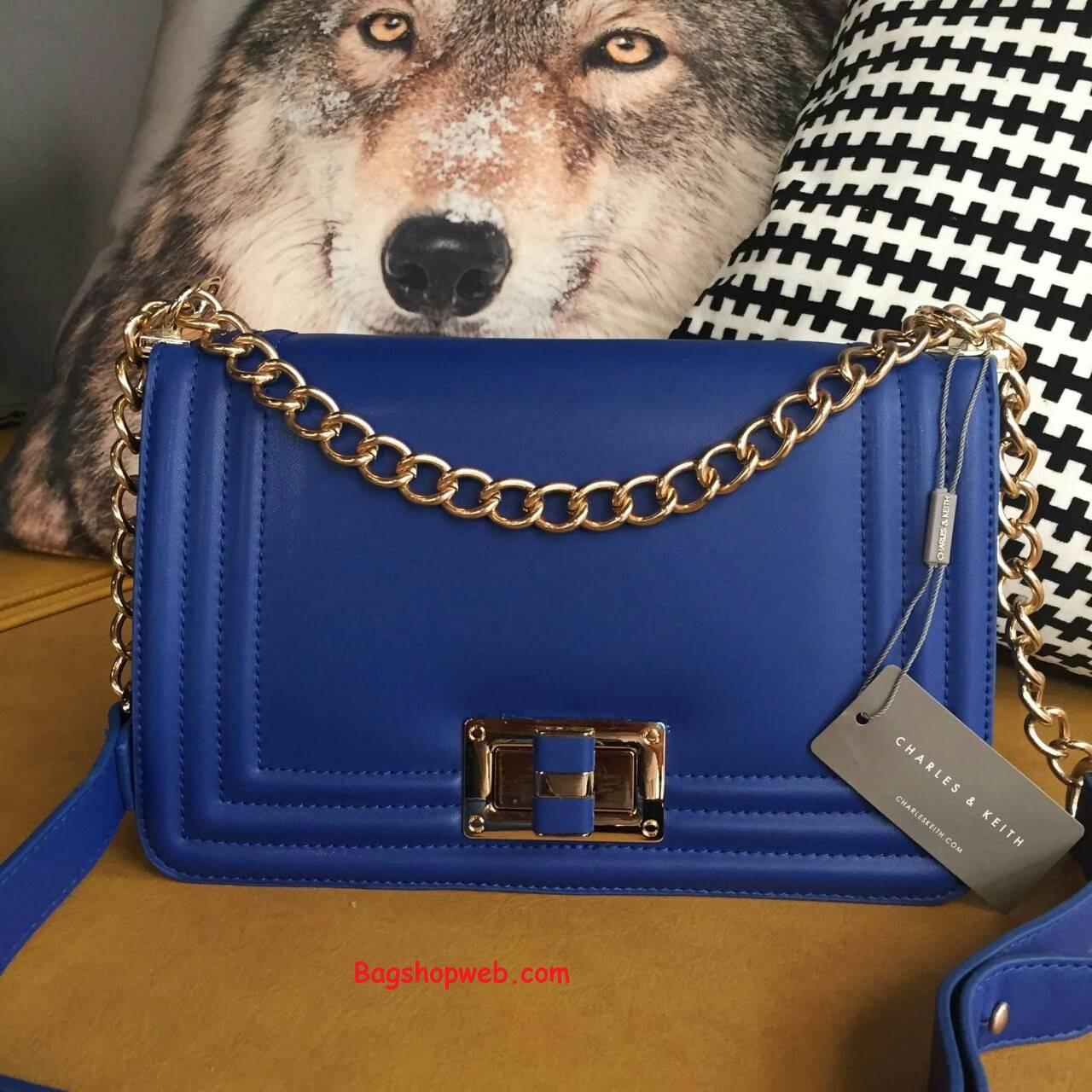 กระเป๋า CHARLES&KEITH CHAIN BAG 2015 Navy Blue