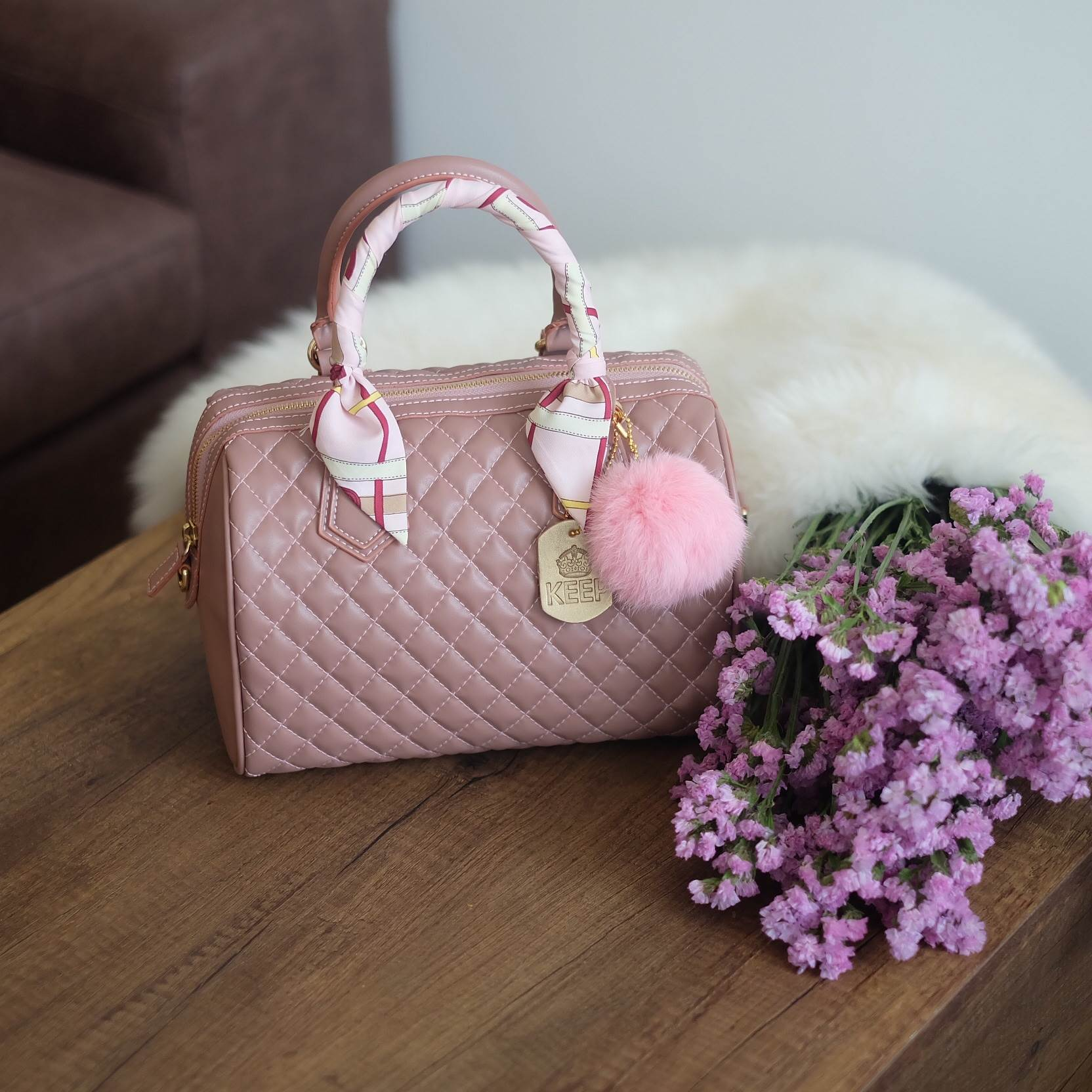 KEEP quited leather Pillow bag New Colour 2017