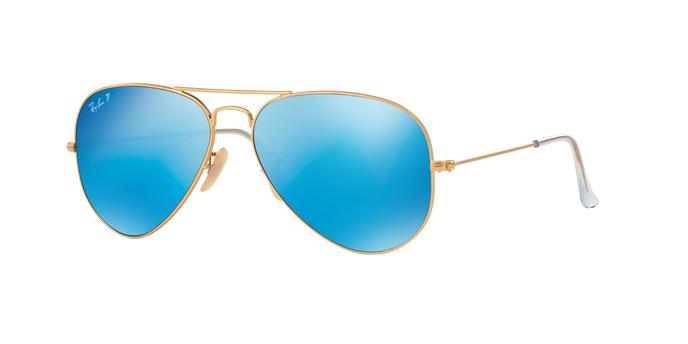 RayBan RB3025 112/4L Matte Gold Blue mirror polarized