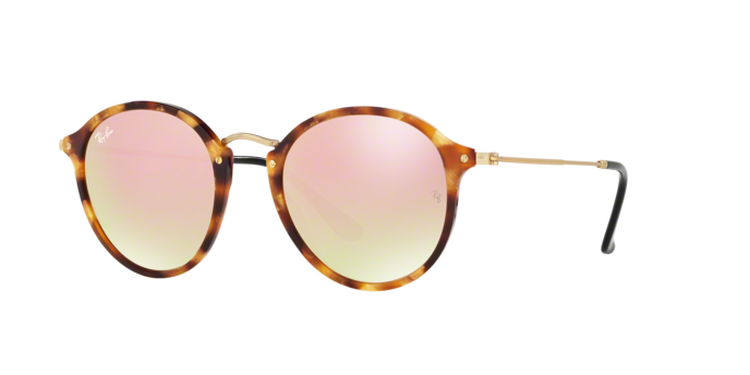 Ray Ban RB2447F 11607O SPOTTED BROWN HAVANA Copper Flash Gradient