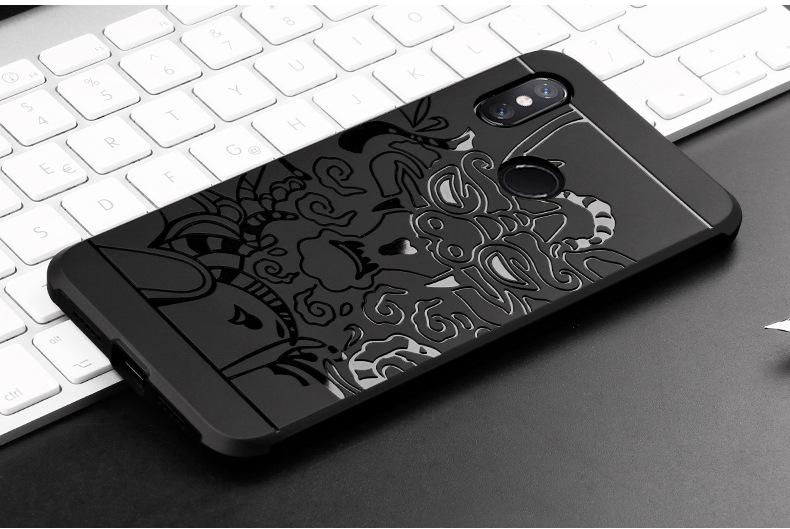 เคส Xiaomi Mi8 TPU สีดำ (ลายมังกร)