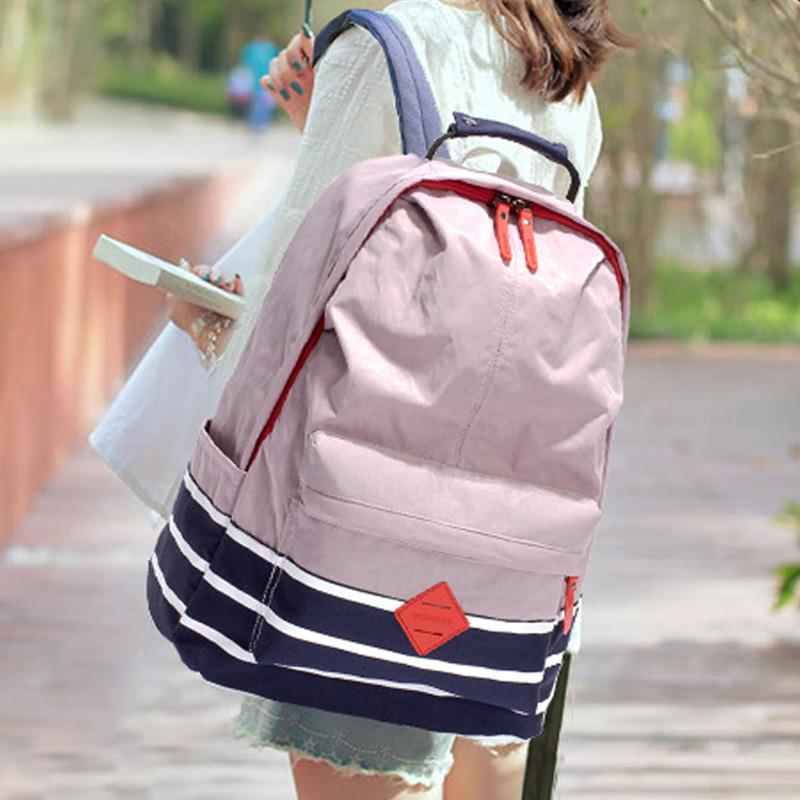 กระเป๋าเป้สะพายหลังสารพัดประโยชน์ สวย ทน เท่ห์ คุณภาพชั้นนำเป็นที่ยอมรับระดับสากล Waterproof nylon cloth Korean casual shoulder bag computer bag junior high school students bag men and women backpack