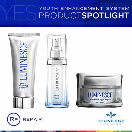 Jeunesse Luminesce Night สูตรสำหรับกลางคืน ชุดบำรุงผิวเทคโนโลยีสเต็มเซลล์