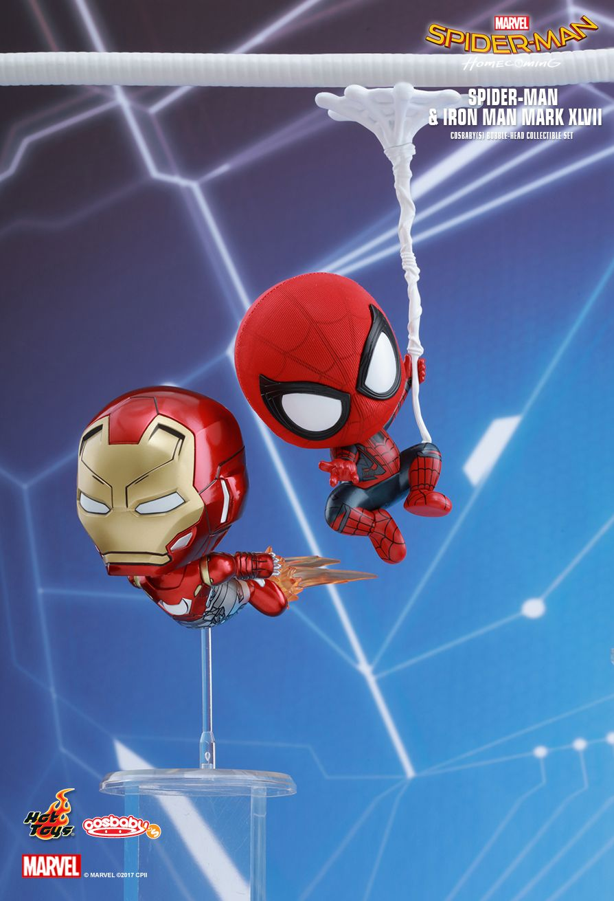 Hot Toys COSB368 SPIDER-MAN: HOMECOMING - SPIDER-MAN AND IRON MAN MARK XLVII