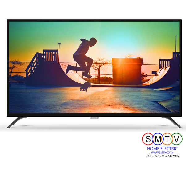"PHILIPS 4K Ultra Slim Smart LED TV 55"" รุ่น 55PUT6002S ส่งฟรีกทม.และปริมณฑล"