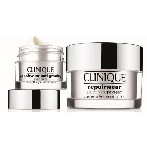 **พร้อมส่ง**Clinique Repairwear Sculpting Night Cream 50ml. ครีมเจลเพื่อผิวหน้ายกกระชับได้รูป ด้วยเทคโนโลยีที่ทันสมัยของ Clinique Collagen Web Technology เข้ากระตุ้นการฟื้นฟูผิวในขณะนอนหลับ ผสานมอยซ์เจอไรเซอร์เข้มข้น เมื่อใช้เป็นประจำอย่างต่อเนื่องจะพบว่า