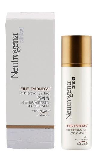 นูโทรจิน่า โลชั่นกันแดด Neutrogena Clinical Fine Fairness Multi-Protect UV Fluid SPF50+/ PA+++ - 30 มล.