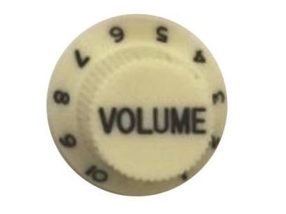 วอลุ่มกีต้าร์ไฟฟ้า สีขาวขุ่นตัวหนังสือขาว Vol ST