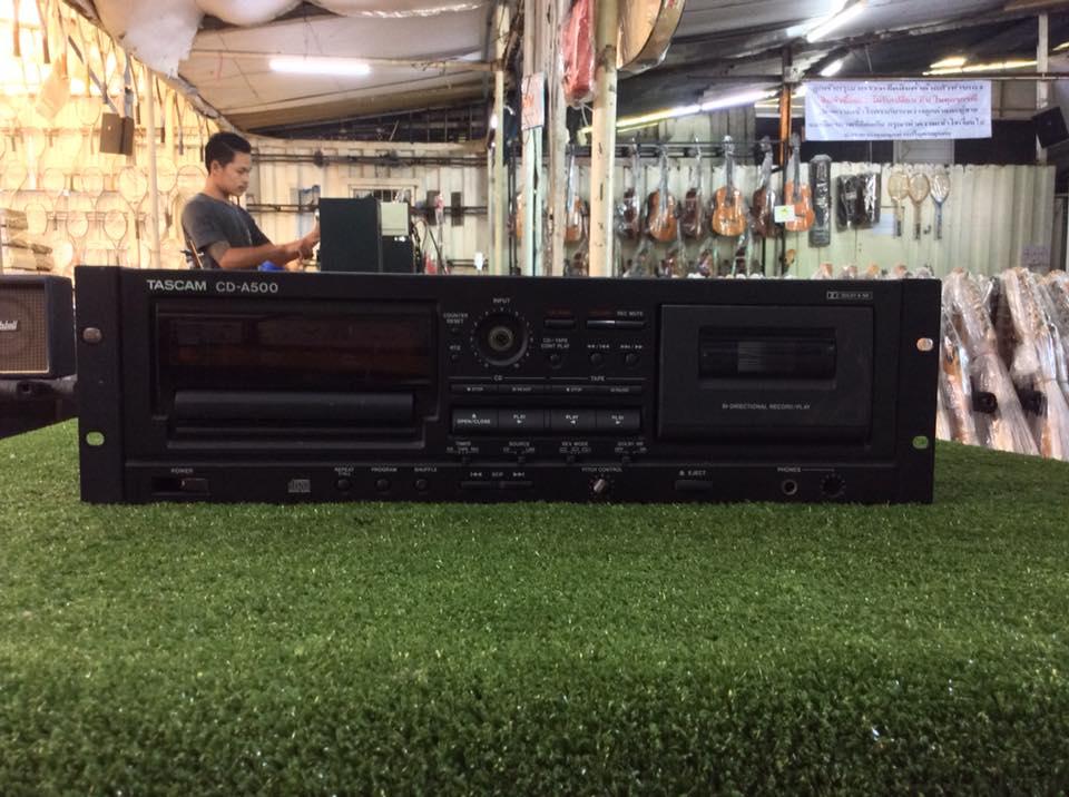 เครื่องเล่น CD และ TAPE TASCAM CD-A500 พร้อมใช้งาน