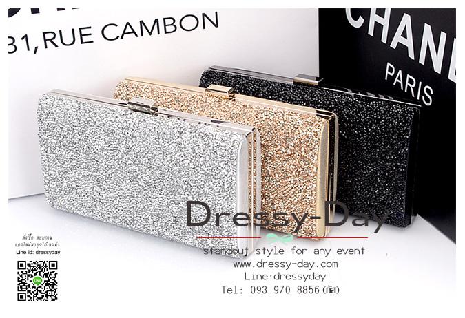 กระเป๋าออกงาน CZ001: กระเป๋าคลัชสวย หรู สีทอง สีน้ำเงิน สีดำ ราคาถูก ใส่คู่กับชุดเดรสออกงานเรียบหรูและดูดีสุดๆ