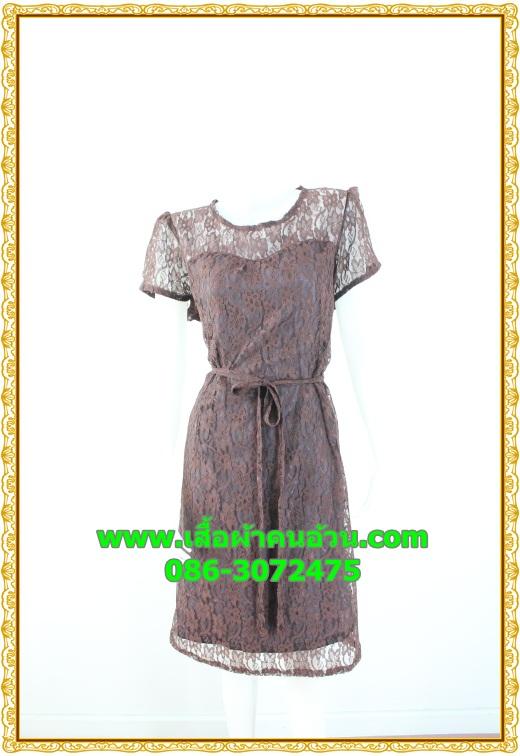 2489เสื้อผ้าคนอ้วน ชุดทำงานชุดคอกลมลูกไม้ลายดอกหวานแต่งแขนโปร่งสไตล์หรูเรียบพรางสรีระไม่ซ้ำใคร