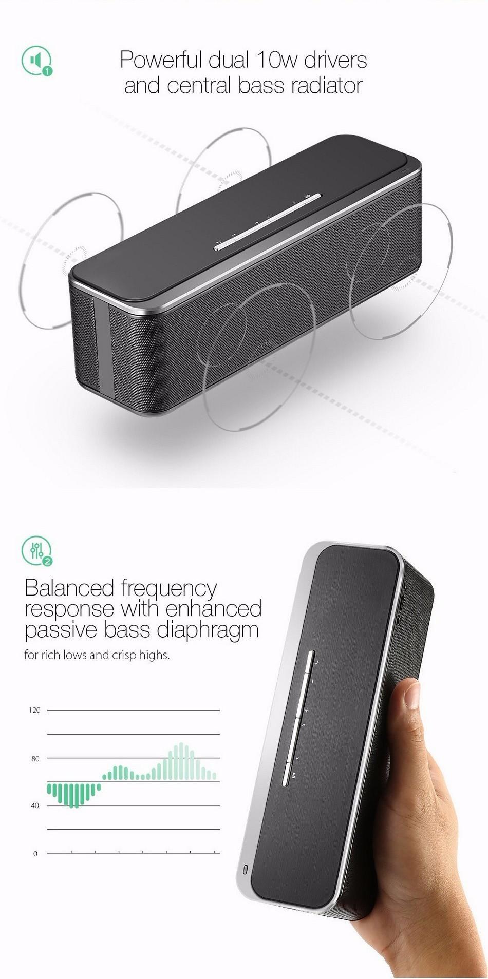 ลำโพง Bluetooth W-KING X8 เสียงเบสหนัก ลำโพงดัง ดีไซน์เก๋