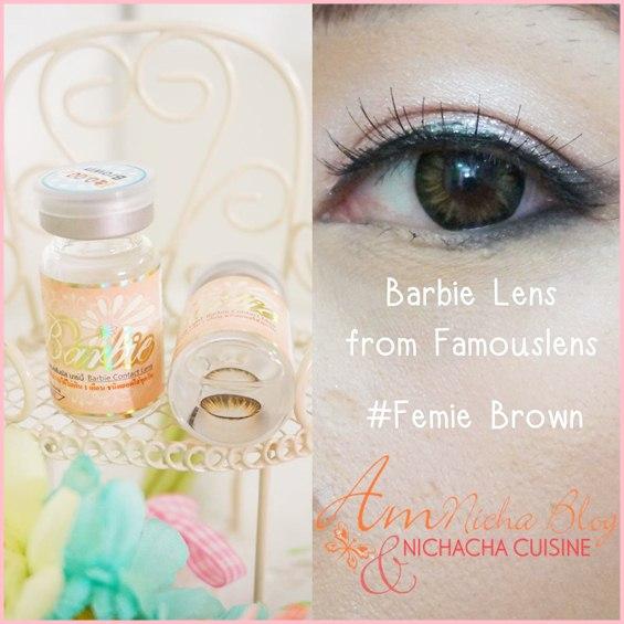 คุณนิชา Amnicha ใช่คอนแทคเลนส์สีน้ำตาล รุ่น Femie Brown คอนแทคเลนส์ไซส์มินิ