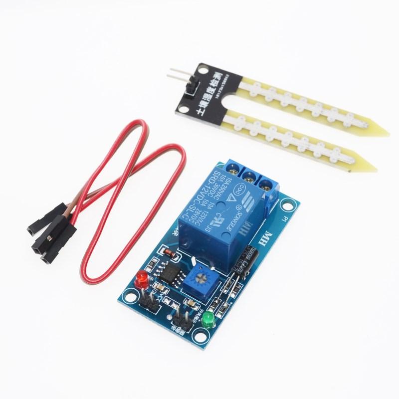 รีเลย์วัดความชื้นในดิน DC 12V soil moisture sensor relay control module