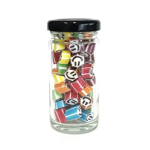 Tall Jar of Colorful Smiley (50g. jar)