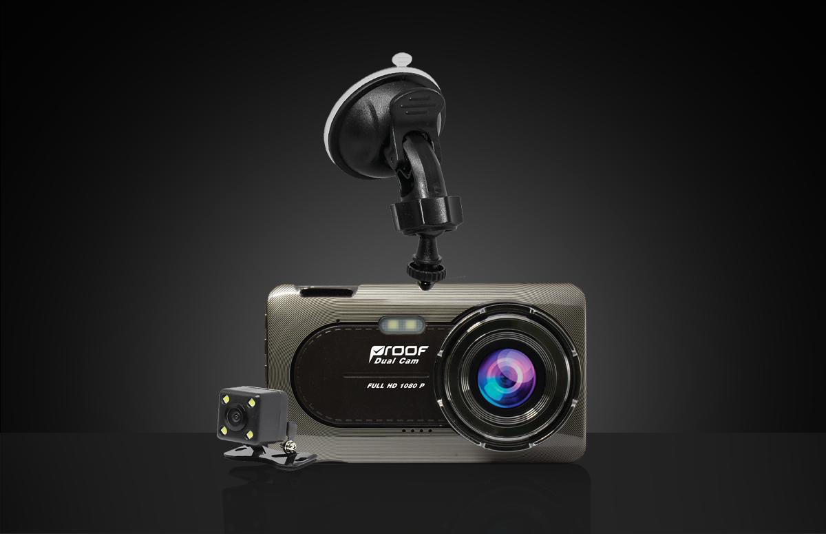 กล้องติดรถยนต์ PF720 (กล้องหน้า-หลัง)