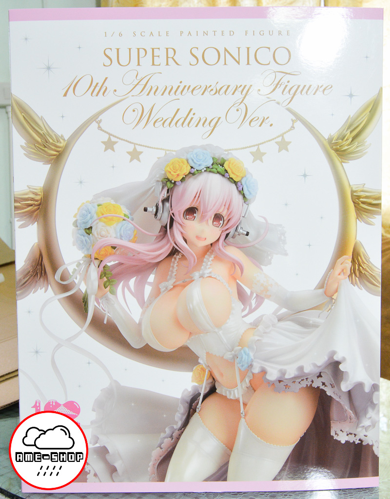Super Sonico 10th Anniversary Figure Wedding Ver. 1/6 Complete Figure(In-Stock)