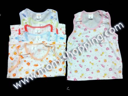 เสื้อกล้าม ผ้า Cotton คละสี ไซด์ M (แพ็ค 3 ตัว)