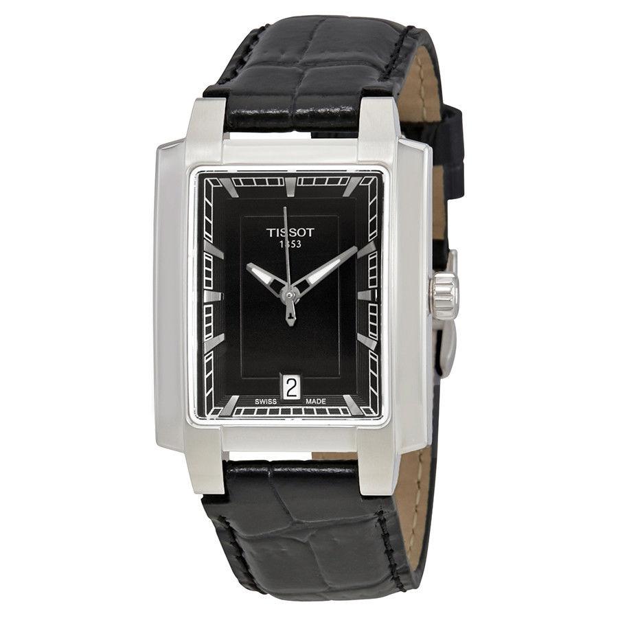 นาฬิกาผู้หญิง Tissot รุ่น T0613101605100, T-Trend TXL Black Dial Black Leather Quartz Women's Watch
