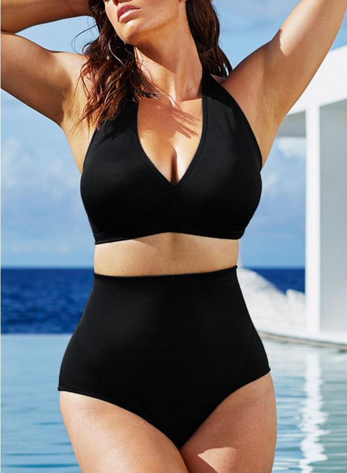 ชุดว่ายน้ำคนอ้วน พร้อมส่ง :ชุดว่ายน้ำแฟชั่นสีดำทูพีชแต่งสายผูกโบว์ที่คอ sexyมากๆจ้า:รอบอก34-42นิ้ว เอว28-36นิ้ว สะโพก34-42นิ้วจ้า