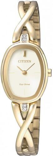 นาฬิกาข้อมือผู้หญิง Citizen Eco-Drive รุ่น EX1412-82P, Elegant Jewellery Bracelet