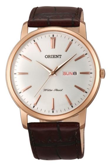 นาฬิกาผู้ชาย Orient รุ่น FUG1R005W, CLASSIC DESIGN Quartz Leather Strap Men's Watch