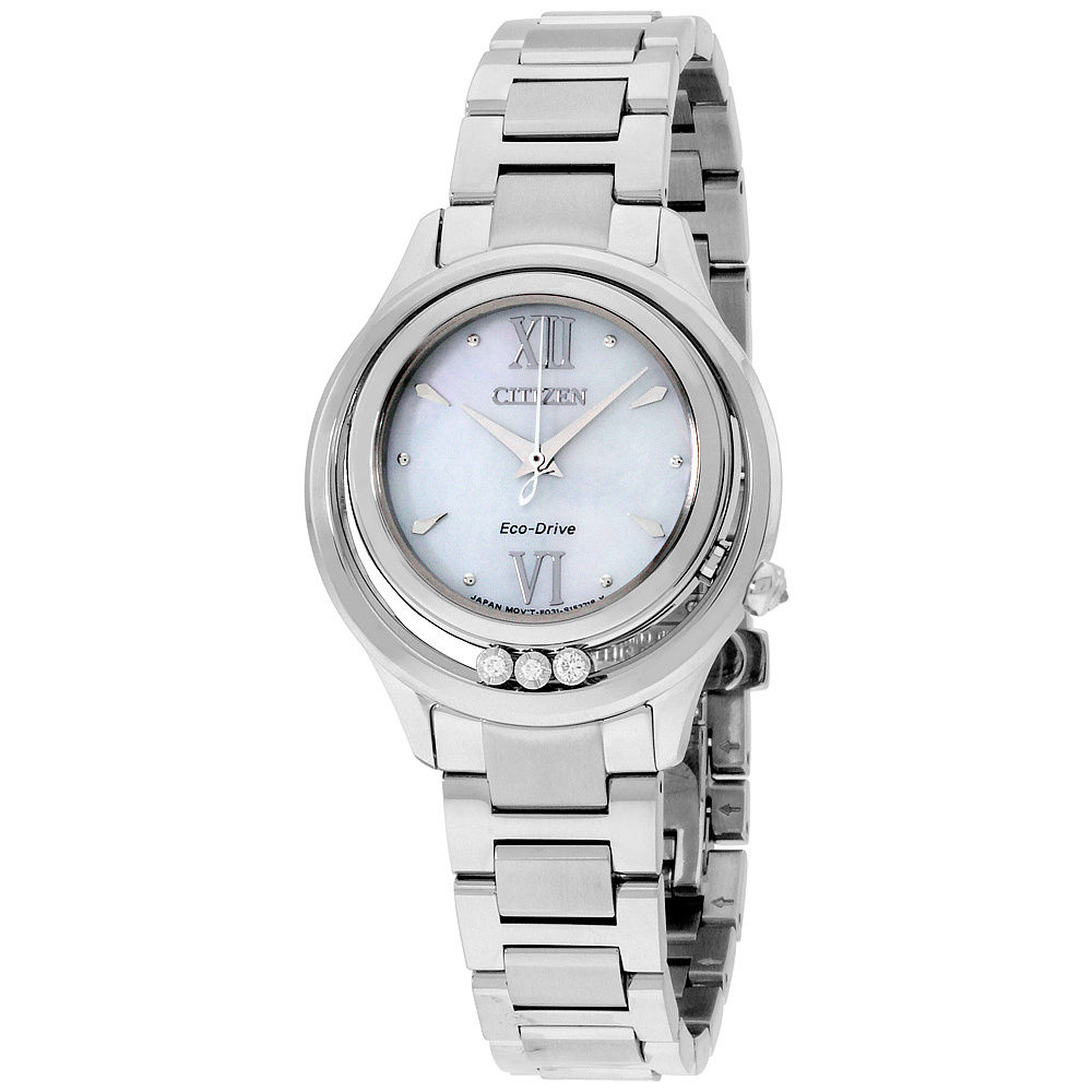 นาฬิกาผู้หญิง Citizen Eco-Drive รุ่น EM0510-53D, L Sunrise LS Mother Of Pearl Dial