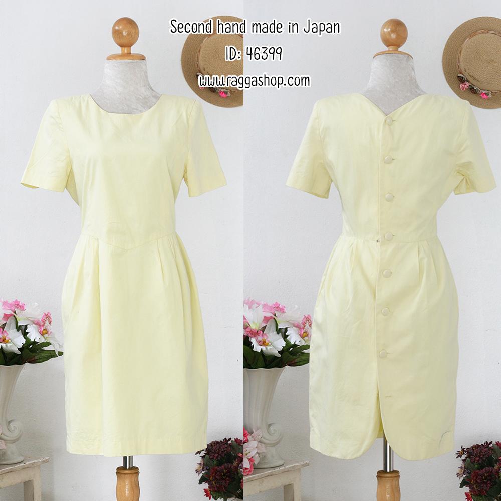 46399 34-28-38 เดรสสีเหลือง (ID 6454 จองคะ)