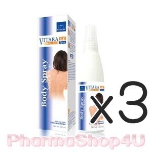 (ซื้อ3 ราคาพิเศษ) VITARA SE Body Acne Spray 50mL สเปรย์ฉีดสิวตามร่างกาย ทั้งแผ่นหลัง หน้าอก ลำตัว คอ และแขน