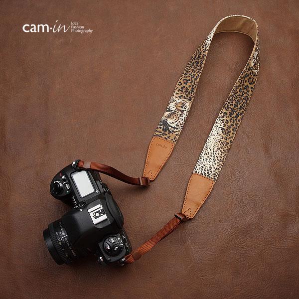 สายคล้องกล้องลายเสือดาว cam-in Leopard