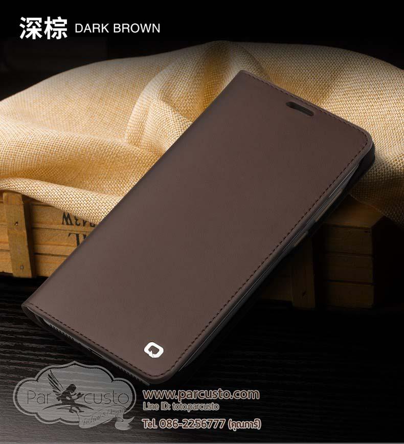 เคสหนังแท้ Huawei Mate 9 และ Mate 9 PRO ผิวด้านเรียบ จาก Qialino [Pre-order]